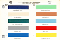 1956 Ford Paint/ Upholstery/ Color Codes