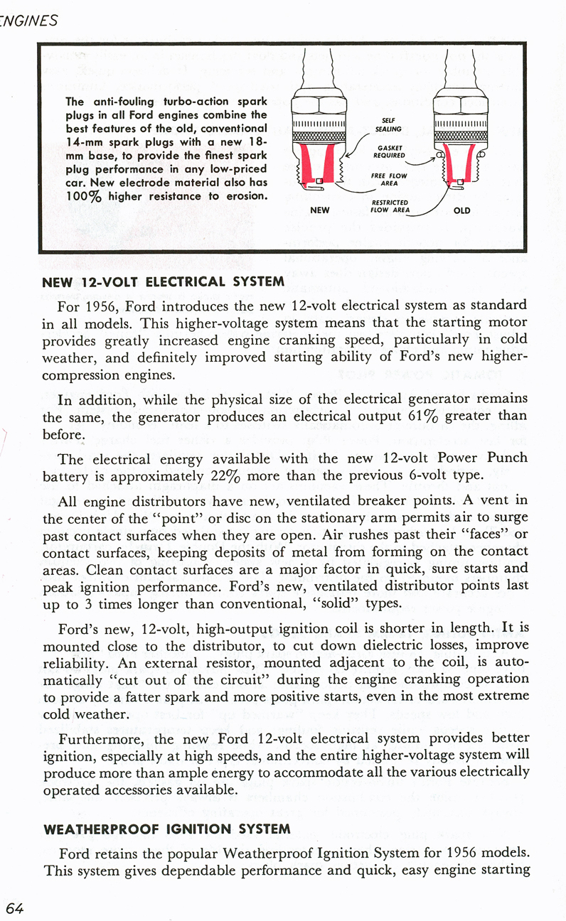 All The Facts Page 64   New 12-Volt Electrical System   Weatherproof Ignition System