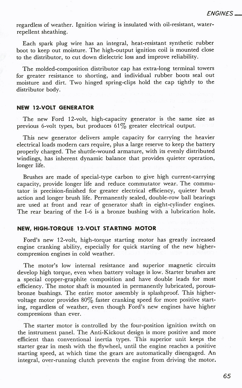 All The Facts Page 65   New 12-Volt Generator   New HIgh-Torque 12-Volt Starting Motor